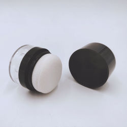 Recipiente Blusher plástico pó solto maquiagem facial jarra de minerais da escova
