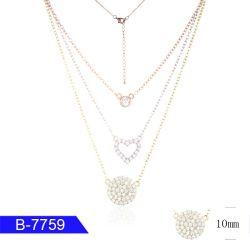 Высокое качество CZ серебристые украшения цепочка для женщин