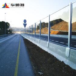 Прозрачный звуковой барьер для движения по автостраде// скоростной железной дороги