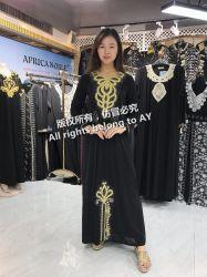 Spitze-Dame-Abend-Kleid afrikanische Kitenge Entwurfs-Kleider