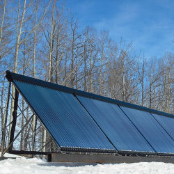 Tubo de calor eficiente colectores solares de tubo de vidrio de 20 tubos con ARS Keymark