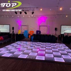 磁石のディスコ3DミラーLED対話型DJ RGBのStarlitダンス・フロアのタイルの表示