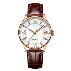맞춤형 OEM 브랜드 럭셔리 파워 리저브 자동 여성용 시계
