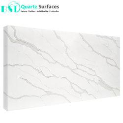 ISO certificadas SGS prefabricados vanidad de baño Blanco Cuarzo Tops