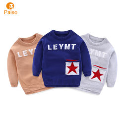 La fabbrica del fornitore scherza i vestiti su ordinazione del bambino del maglione del pullover lavorati a maglia cotone