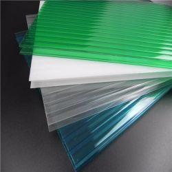 Lucarne PC transparent Twin mur creux Feuille de toiture en polycarbonate