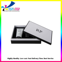 Benutzerdefinierte Weiß Gedruckt 2 Stück Karton Kosmetische Verpackung Geschenkbox Mit Kunststoffhülse