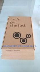 Fuerte Kraft caja de embalaje de cartón ondulado Caja de cartón marrón con la EPE en el interior de espuma de embalaje y envío de productos electrónicos Wholesale