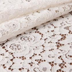 Raw en nylon blanc dentelle stretch Spandex Tissu pour la couture