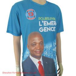 Comercio al por mayor camisetas publicitarias artículos de promoción de la elección de la pantalla camiseta personalizada camisetas impresas