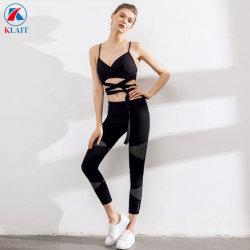Дамы новые Sexy назад черный кружевной Быстрый сухой Sport Йога фитнес-балет танцы бюстгальтер