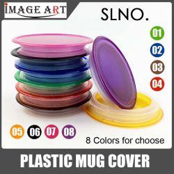Mais barato caneca de plástico colorido tampa tampa da capa