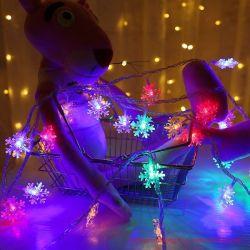 Controle remoto de lâmpada LED de Seqüência de neve pequena caixa de bateria de luzes de estrela de Luzes Piscantes String Natal Ins luzes decorativas