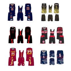 L'ultimo spazio in bianco su ordinazione di sublimazione della Cina di meglio uniforme all'ingrosso poco costoso di pallacanestro rovesciabile asciuga la pallacanestro adatta Jersey
