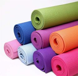 """주문을 받아서 만들어진 로고 다채로운 4-10mm 간격 PVC 요가 매트 (24의 """" X 69)"""
