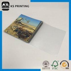 طباعة كاملة لمجلَّد Paperback الربط السلكي-O مع PVC شفاف الغطاء