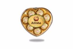 8 ПК в форме сердечка арахис вафельной шоколад с молоком