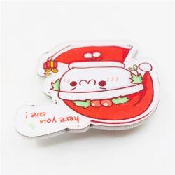 Haute qualité en matière plastique pop des cadeaux de Noël de l'artisanat d'un insigne les broches