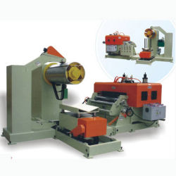3 en 1 ligne de la bobine de tôle d'alimentation combinée Decoiler Uncoiler lisseur lisseur automatique du convoyeur