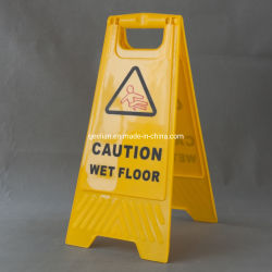 Pp.-Vorsicht-Zeichen-Vorsicht-Anschlagtafel-nasses Fußboden-Zeichen-Warnzeichen