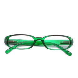 Mais novo verde e azul da estrutura Plástico óculos de leitura