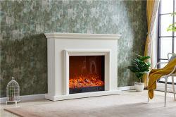 Diseño de antigüedades de madera chimenea eléctrica con calefactor decorar manto