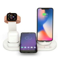 2019 Nouveau modèle de chargeur 4 en1 Station de charge de téléphone mobile sans fil multifonctions du chargeur pour Airpods pour Iwatch