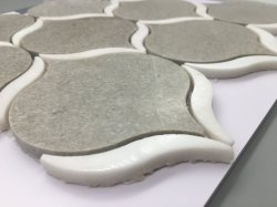 Handmade 절단 자연적인 돌 Lappato 지상 모자이크