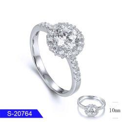 卸し売り新しいモデルの方法女性のための花嫁の宝石類の銀か真鍮の立方ジルコニアの石のリング