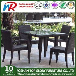 고정되는 옥외 안뜰 (TG-368)를 식사하는 등나무 정원 가구 식탁 및 의자