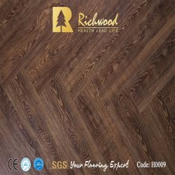 12mm Handscraped U Groove HDF Laminado de madera de madera pisos laminados