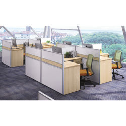 Divisore di legno modulare dell'ufficio del divisorio dell'ufficio di personale della stazione di lavoro dell'ufficio progetti di vendite più nuove