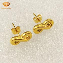 De Juwelen 8 Toebehoren Epr3988 van het roestvrij staal van het Staal van het Titanium van de Dames van de Manier van de Halsband van de Keten van de Juwelen van de Oorringen van Word Zilveren