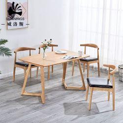 レストランの家具のダイニングテーブルの中国製広東省の北欧の木の製造業者
