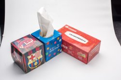 Poche de haute qualité de la Chine de gros de mouchoirs de papier, face à des tissus