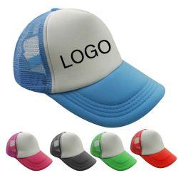 Kundenspezifische Luft &#160 des Hut-6-Panel; Unbelegte Mann-Ineinander greifen-Schaumgummi-Fernlastfahrer-Hüte mit justierbarem Plastik Buckle