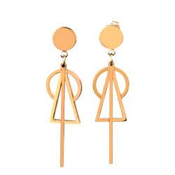 مجوهرات الفولاذ المقاوم للصدأ أزياء مثلث الشكل الدائري لحاجر للمرأة