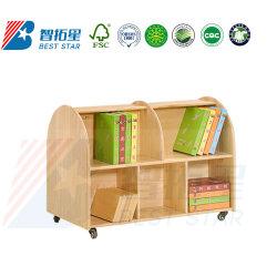 Kindergarte мебелью, деревянными полками для хранения школьных библиотек книжной полке, деревянной мебелью в дневное время, дети Хранилище Полки, детей в книжном шкафу Книжная полка