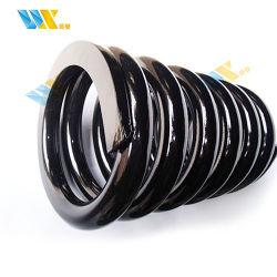 Порошковое покрытие черного цвета стали большой провод железнодорожных спиральная пружина сжатия