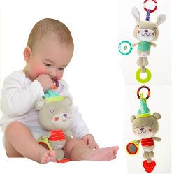 Мягкие Хрипение малыша с прорезыватель шикарные висящих прорезыватель игрушка