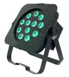安いAdj 12X5w RGBA DMX LEDの平らな同価ライト(ICON-A034)