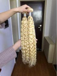 Des Großhandelspreis-billig 100% lockiges Haar-Webart-Bündel Brasilianer-Jungfrau-des Menschen-613 tief