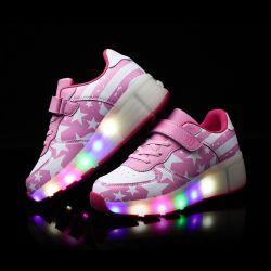 Nieuwe LEIDENE van het Ontwerp Lichte Schoenen voor Jongens en Meisjes, de Schoenen van de Rol met Enig Wiel voor Jonge geitjes en Sdults