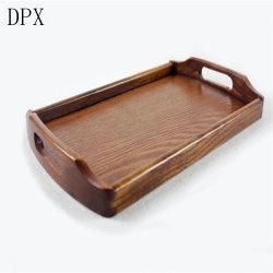 Outil de commerce de gros de la plaque de vaisselle Kitchenare Paulownia Plateaux en bois