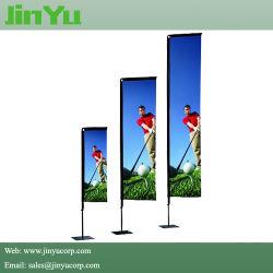 Publicidad al aire libre de carbono rectángulo Polo Bandera de fibra de vidrio.
