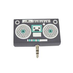 Stile della cassetta audio del divisore della cuffia del condivisore di plastica molle di musica del PVC degli accessori del telefono multi