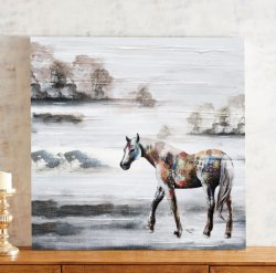 Cheval en peinture sauvage 100 % HP