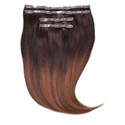 絹まっすぐ手かぎ針編み自然見えないRemy人間毛の拡張Ombreカラー#1b/4/30の皮クリップ