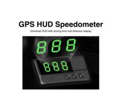 Tête en haut de projets d'affichage vitesse du véhicule sur le pare-brise Speedo GPS de compteur C60