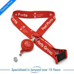 La insignia del molinete personalizado Polyester impreso Lanyard poliéster de silicona Team UK